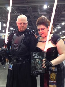 Sith Lords holding The Dark Thorn!