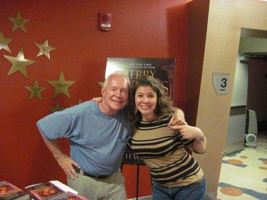 The second picture is of Terry and the Gibson's Bookstore Events Coordinator, Elisabeth Jewell.