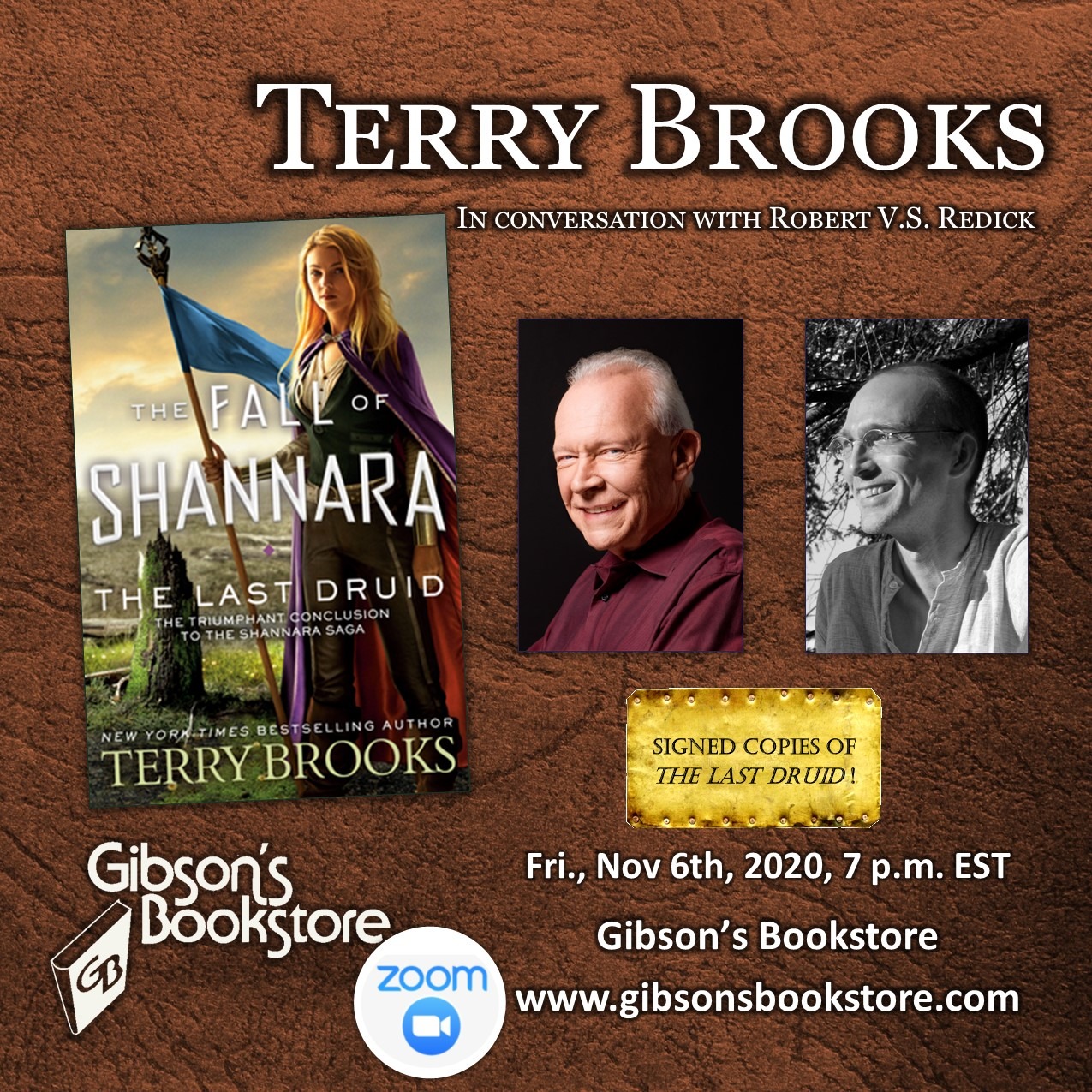 Zoom Event: Gibson's Bookstore